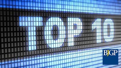 Top 10 most read BJGP research articles published in 2016