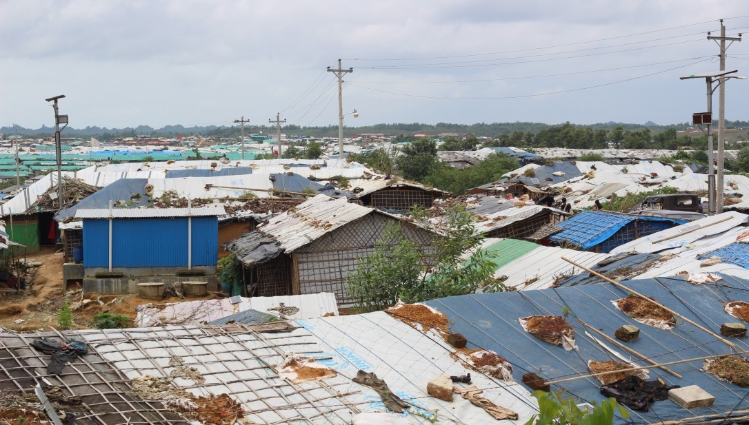 Rooftops of refugee camp