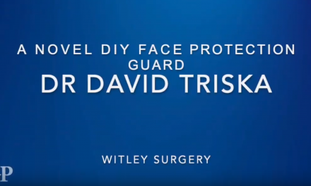 GP Dave Triska has his own design for 3D printed face visors