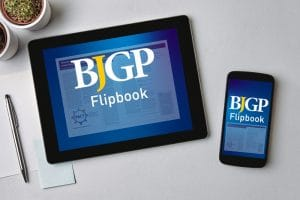 BJGP flipbook on tablet and mobile